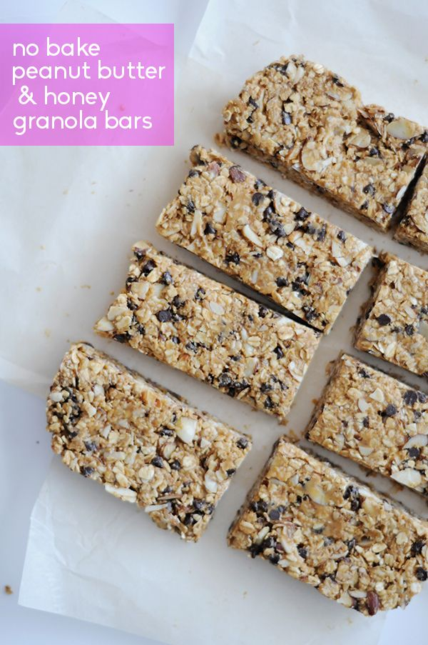No Bake Peanut Butter and Honey Granola Bars