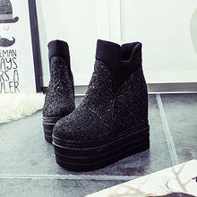 Sougen Kadın Ayakkabı Kar Botları Yeni Geldi Ayak Bileği Siyah Süet Sonbahar Markalar Bot 2016 Kış Deri Tall Bayanlar Ayakkabı 2015(China (Mainland))