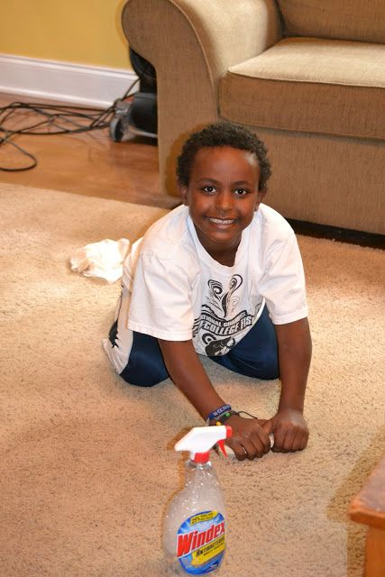 Best Carpet Cleaner/Spot Remover: Baking soda, 1T white vinegar, 1T clear Dawn dish soap, 2 C warm water & spray bottle. If dry, dampen spot(s) with water OR white vinegar & sprinkle with some soda. Let it bubble 10 minutes to absorb stain or stain disappears. Mix 1T vinegar, the dawn & water; pour into spray bottle. Spritz stain & scrub. Let dry & vacuum. *Use on old OR new stains! Works so well you may need to clean entire carpet! :)