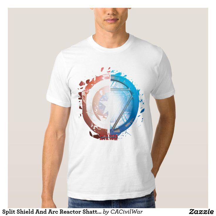 Split Shield And Arc Reactor Shattering T Shirt. Regalos, Gifts. #camiseta #tshirt