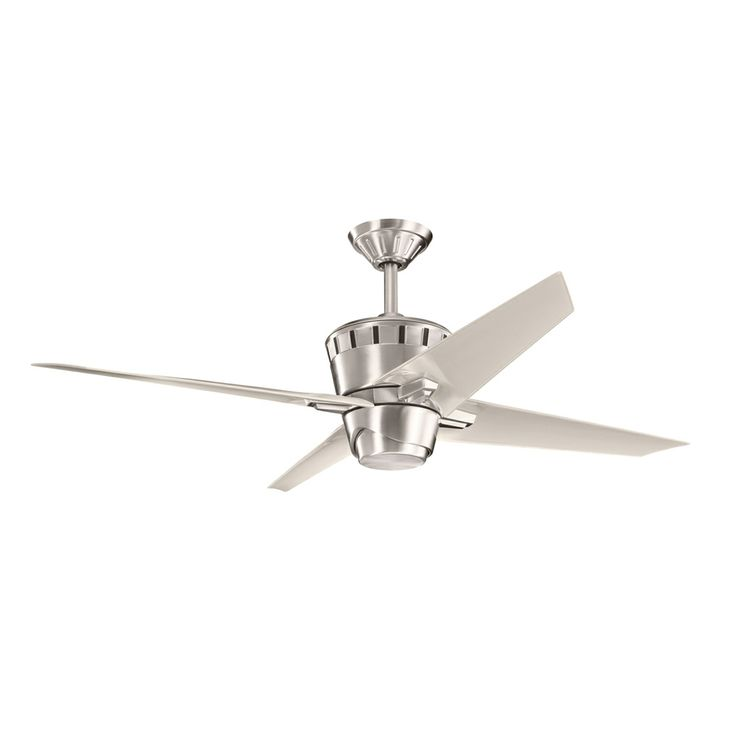 Kemble 52 inch kemble fan shown in brushed stainless steel by kichler lighting 300132bss