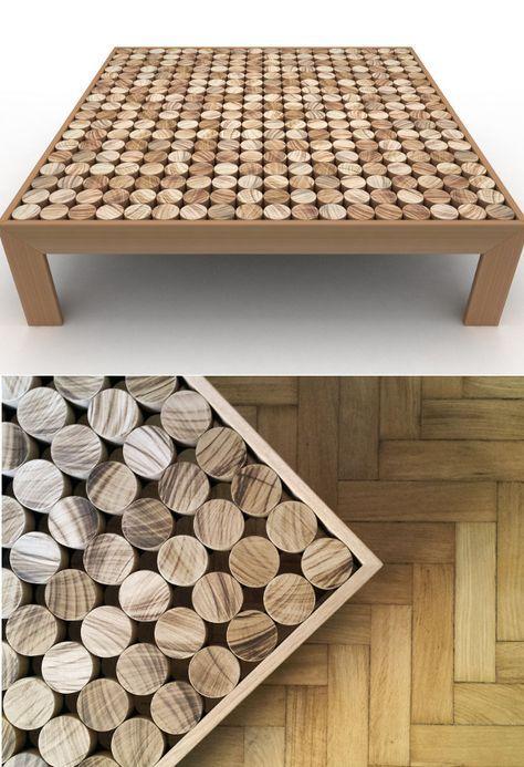 Low square solid wood coffee table SOFIA by mg12 | #design Monica Freitas Geronimi