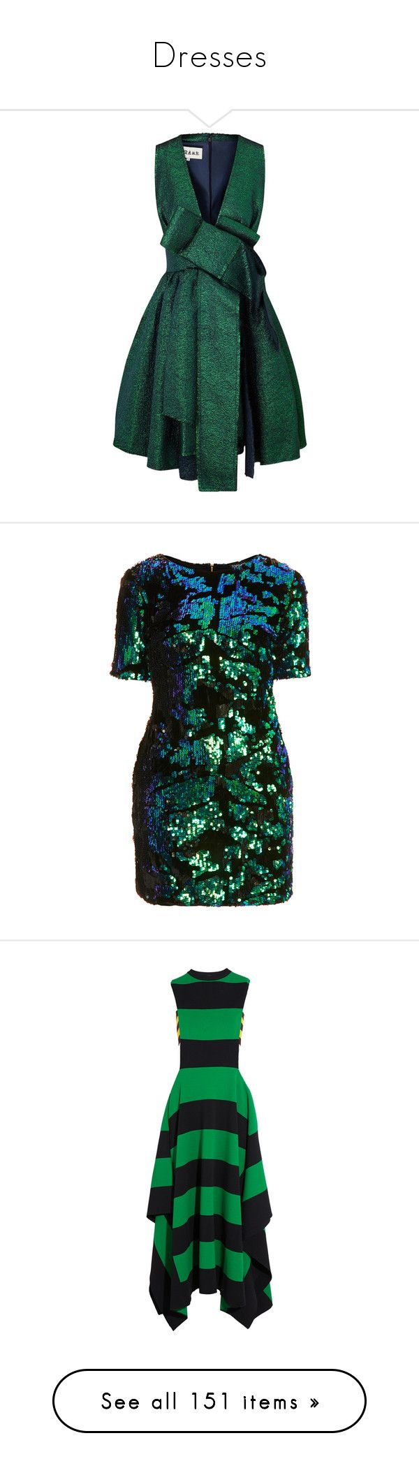"""Dresses"" by kitti-takacs ❤ liked on Polyvore featuring dresses, short dresses, vestidos, green, sparkly mini dress, sparkly cocktail dresses, metallic cocktail dress, sparkly dresses, topshop and multi"