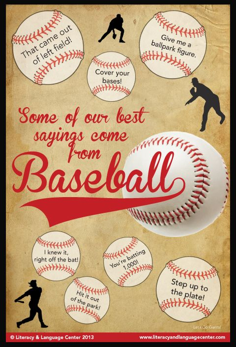 Some of our best sayings come from baseball.