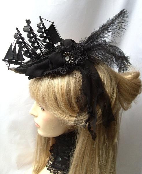 Rococo Hair Fascinators for Galleon aristocrat by KopfTraeume