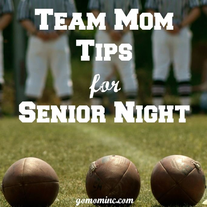 It's that time of year again!  For Team Moms with varsity athletes, you will either plan or attend Senior Night and either way ~ its one of the most meaningful nights of the year!  Team Mom Tips for Senior Night | gomominc.com
