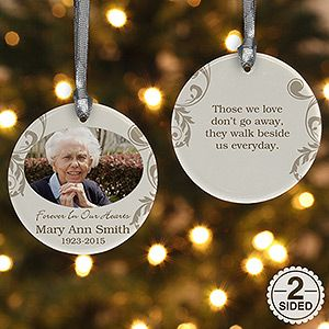 Create a gift that will honor their legacy with this 2-Sided In Loving Memory Personalized Memorial Photo Ornament. Find the best personalized memorial gifts at PersonalizationMall.com