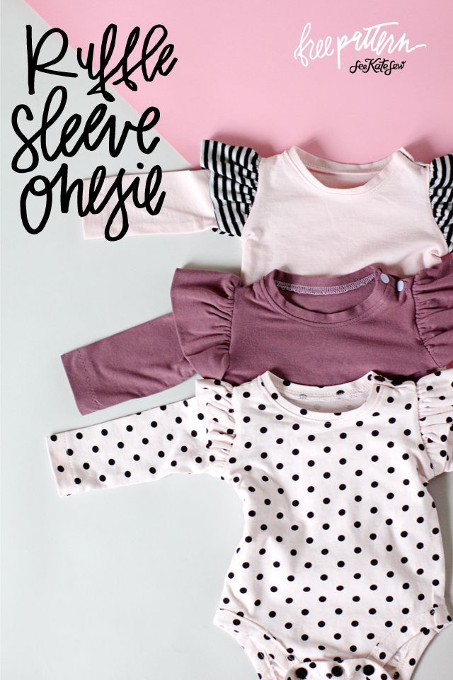 Ruffle Sleeve Onesie | diy baby clothing | handmade baby clothing | sewing tips and tricks | sewing tutorials | baby onesie diy | baby onesie pattern | free sewing patterns || See Kate Sew #babyonesie #sewingtips #sewingpatterns #freesewingtips