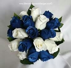 Now that I can planning out my wedding, I wanted to do something different with the colors. I think blue and white flowers would go really well for our wedding