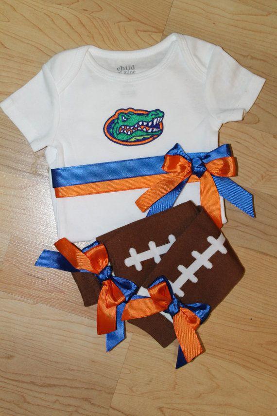 Florida Gators Football Onesie and Leg by SweetCarolineCrafts, $36.99 @lexi Pixel Garriott Garriott Lynch, saw this and immediately thought of Isla :)