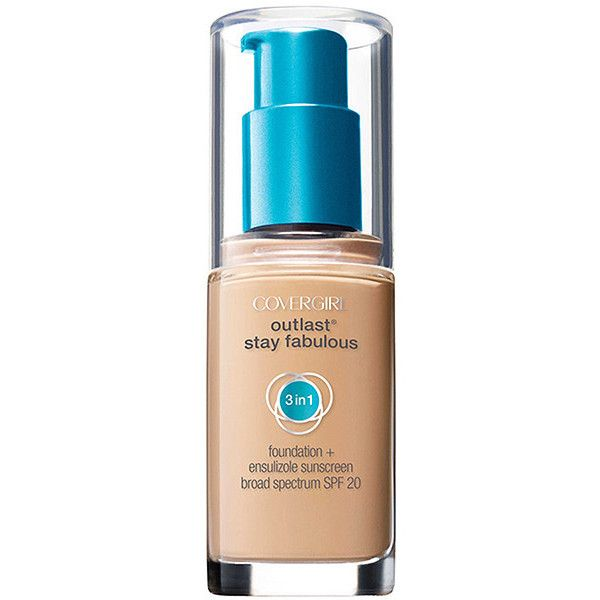 Covergirl Outlast Stay Fabulous 3-in-1 Foundation Medium Beige Target... (99 VEF) ❤ liked on Polyvore