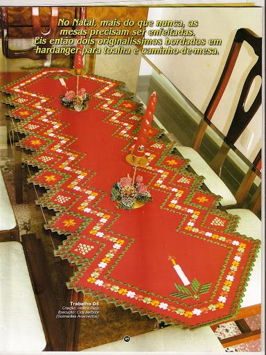 Caminho de mesa vermelho