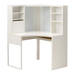 MICKE Corner workstation - white - IKEA- $139 . Perfect for that tight spot and can add file cabinets  to both sides.