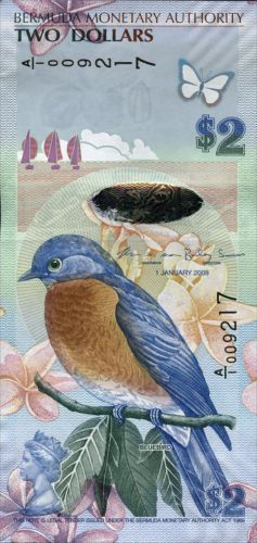 Bermuda 2 Dollars 2009 (2013) Pick neu (1) in Münzen, Papiergeld Welt, Amerika | eBay