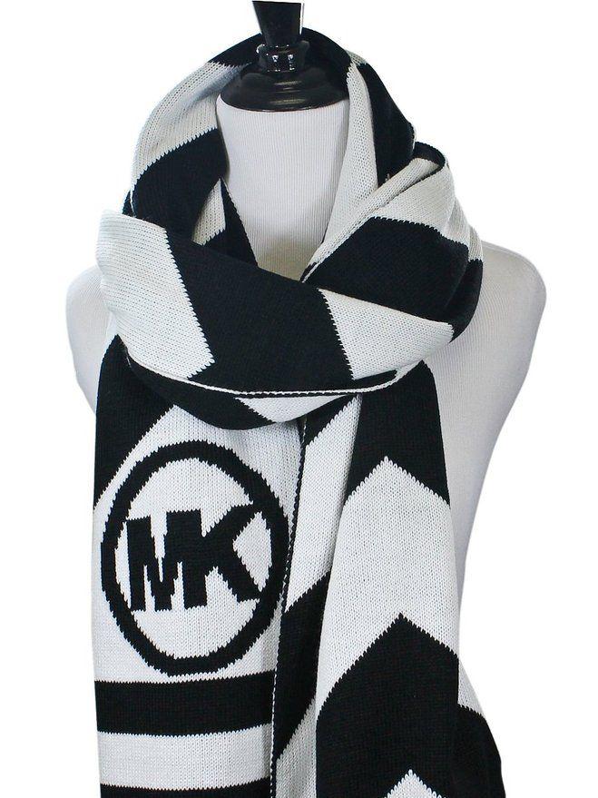 michael michael kors chevron stripe logo scarf michael