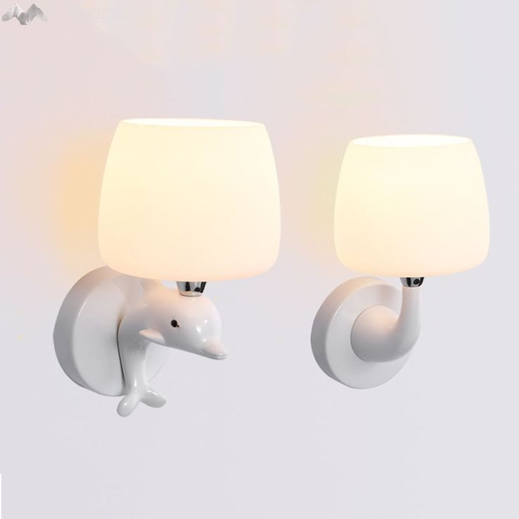 (53.94$)  Watch here - http://aia17.worlditems.win/all/product.php?id=32798726081 - Lighting Franchise]Modern LED Wall Lamps Children Baby Kids Bedroom Bedside Lamp Dolphin Shape 90-260V Originality Novelty Light