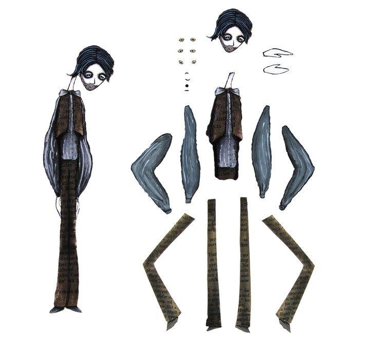 """HITRECORD - """"man"""" character breakdown - mademoiselle noir"""