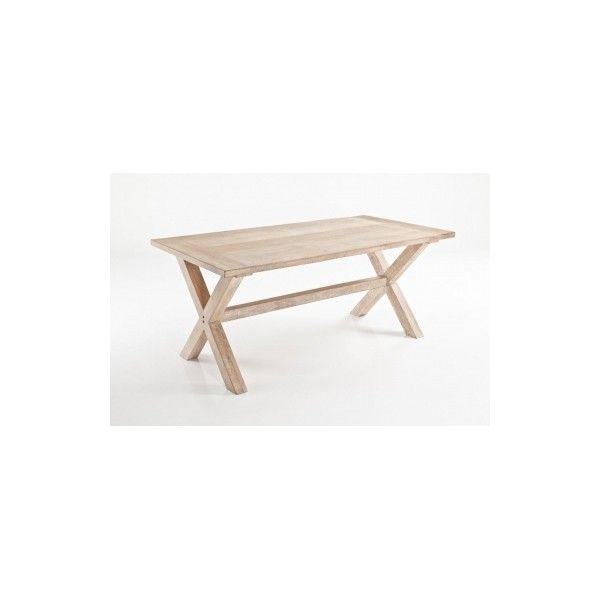 Small Narbonne Solid Wood Dining Table (€680) ❤ liked on Polyvore featuring home, furniture, tables, dining tables, timber furniture, wooden table, lumber furniture, wood table and wooden dining table
