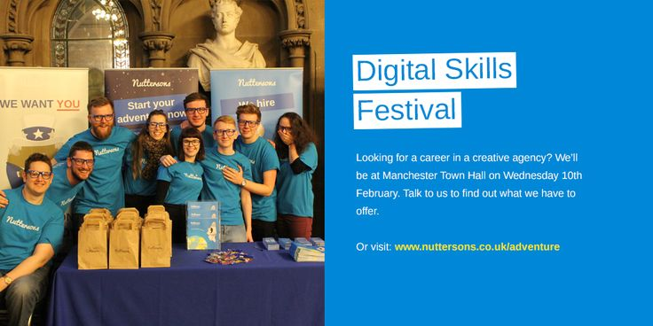 If you are looking for a career or experience in a creative industry do not miss a chance to meet Nuttersons on the 10th of February in Manchester Town Hall!  http://www.nuttersons.co.uk/careers/