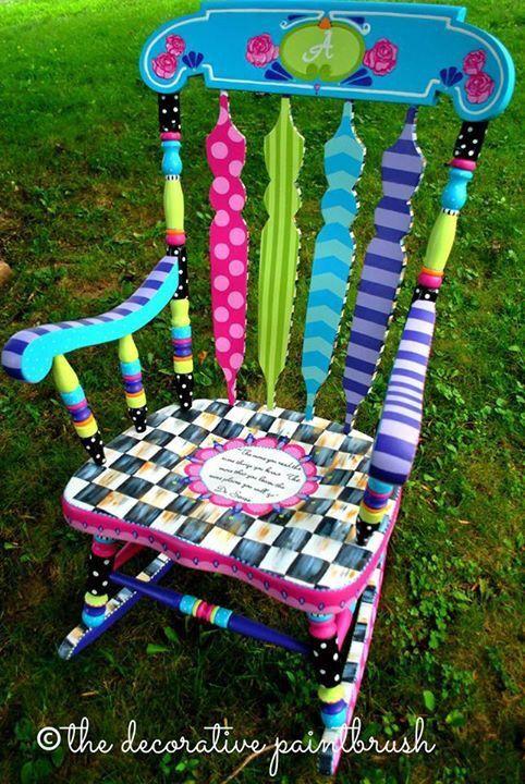 fun painted furniture. what a fun reading chair created by mary painted chairspainted furniturefurniture furniture