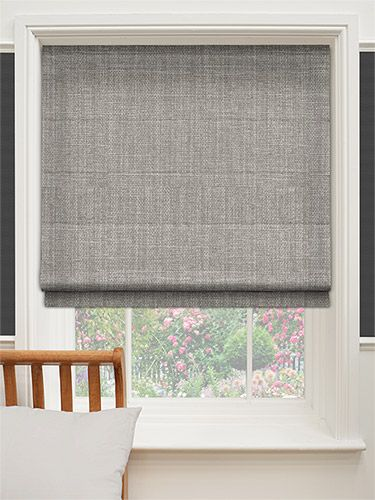 Cavendish mid grey roman blind from grey roman blinds roman blinds and roman for Grey bedroom window treatments