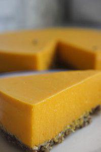 Oranje kwarktaart (suikervrij, vegan, glutenvrij)