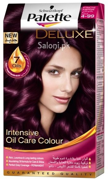 coloration tresses deluxe intensive huile intensive couleur de soins aubergine color attractive stunning oil palette deluxe - Coloration Moka