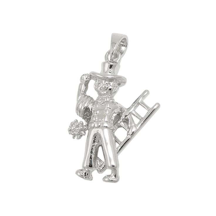 pendant chimney-sweep molded silver 925
