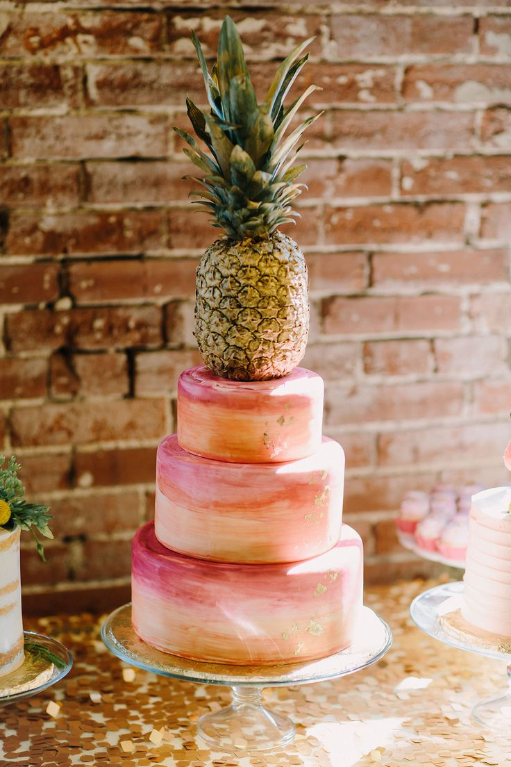 pineapple wedding cake wedding cake ideas watercolor pineapple wedding cake 18525