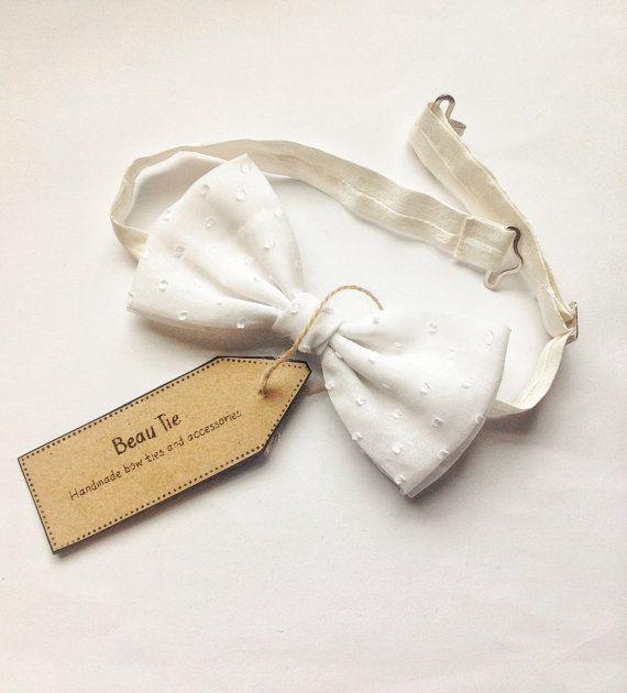 mens bow tie white polka dot, white bow tie, polka dot bow tie, wedding