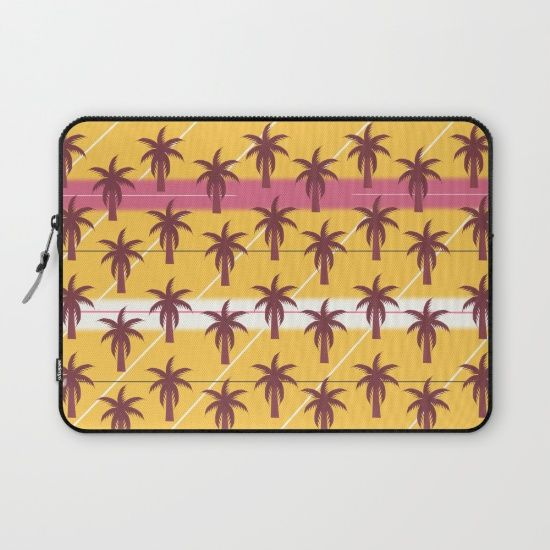 A colorful #sleeve, perfect to protect your #laptop this #summer. #palmtrees #pattern