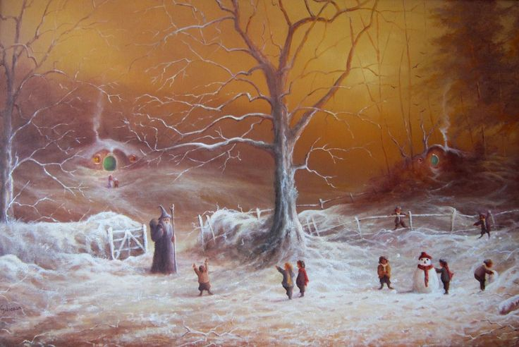 First snow in the Shire | The Lord of the Rings Blog (Joe Gilronan Tolkien Art)