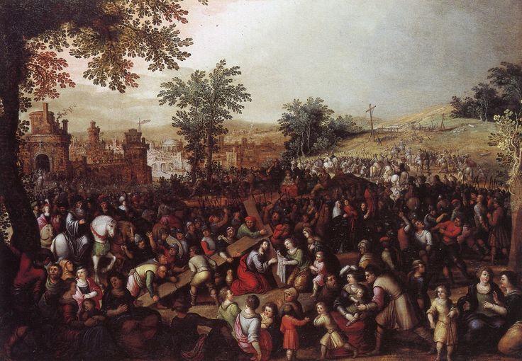 """Louis de Caullery (Caulery, Cambrai 1580 ca. - Anversa  1621/22) """"Cristo e la Veronica"""" olio su tavola, cm 56 x 83 #PinacotecaCivica #AscoliPiceno #Marche #Italy"""
