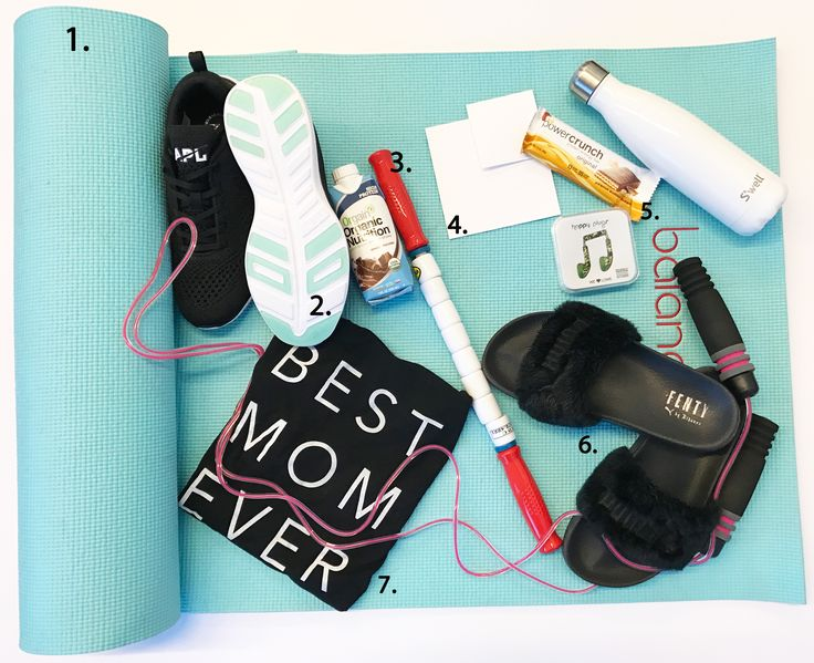 """Catherine-Lowe_Gym-Bag - """"As any new mom can tell you, convenience is so important. The Orgain vegan chocolate protein shake and Power Crunch bar have a permanent fixture in my gym bag to ensure I never have to go to a workout depleted. After a workout, protein promotes muscle recovery and growth, so if I don't get home in time to have a proper meal, one of these snacks will do the trick!"""""""