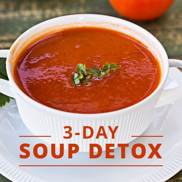 Clean Eating Soups. Eat it, sip it, or drink it! Instead of a juice detox, try a detox plan that incorporates foods that are both cleansing and filling. We've carefully selected recipes for the 3-Day Soup Detox that are packed with nutrients and antioxidants.