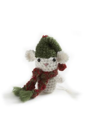 Amigurumi Christmas Mouse Ornament free pattern from @Lion Brand: