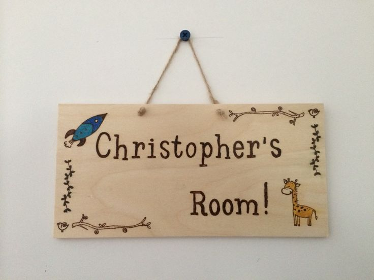 A personal favourite from my Etsy shop https://www.etsy.com/listing/237822891/handmade-woodburnt-childrens-bedroom