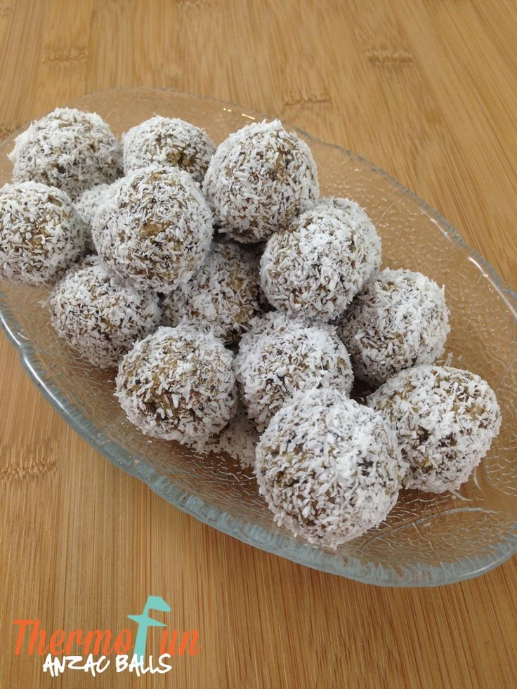 A bit of a twist on an Anzac biscuit! These no bake balls are so quick, easy and yummy – oh and also rather addictive so I'd suggest you double the batch! Recipe inspired by and tweaked to be made in the Thermomix from : http://emeraldandella.com.au/blog/2013/04/no-bake-anzac-balls/ Print Anzac Balls Recipe - ThermoFun Yield: Makes...