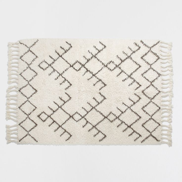 FRINGED WOOL RUG - Rugs - Decoration | Zara Home Norge / Norway
