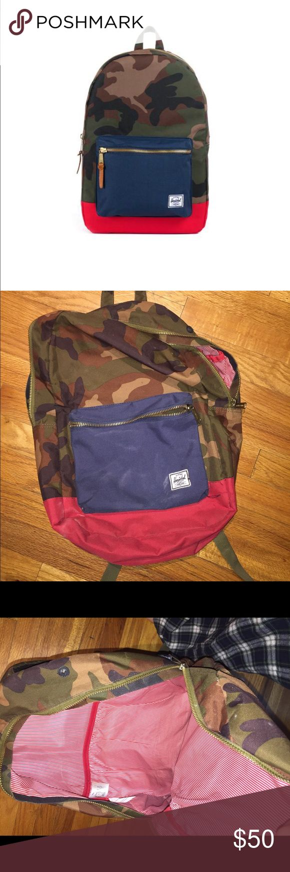 Herschel Camo Backpack Lightly used and in great condition! Just not in need of another backpack. Let me know if you have questions! This fit my 13 inch lap top. Herschel Supply Company Bags Backpacks