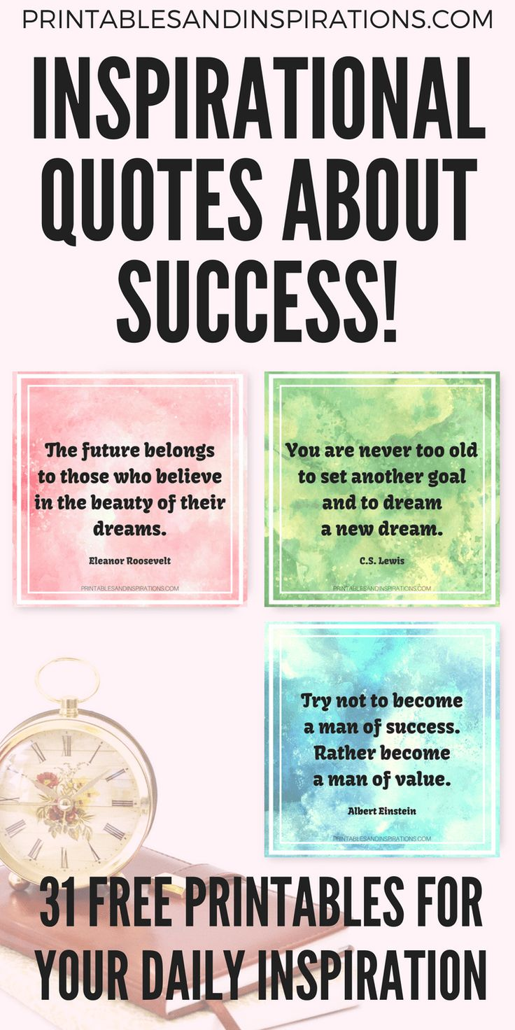 31 Inspirational Quotes About Success Free Printable
