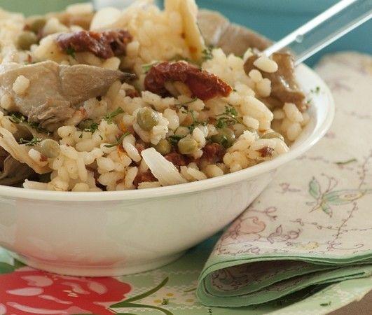 veganistische risotto, ook heel lekker met quinoa !