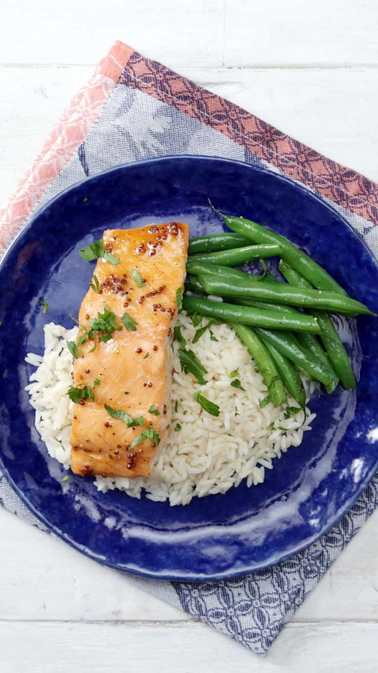 Sweet and spicy salmon is perfect when you need a quick, easy meal.