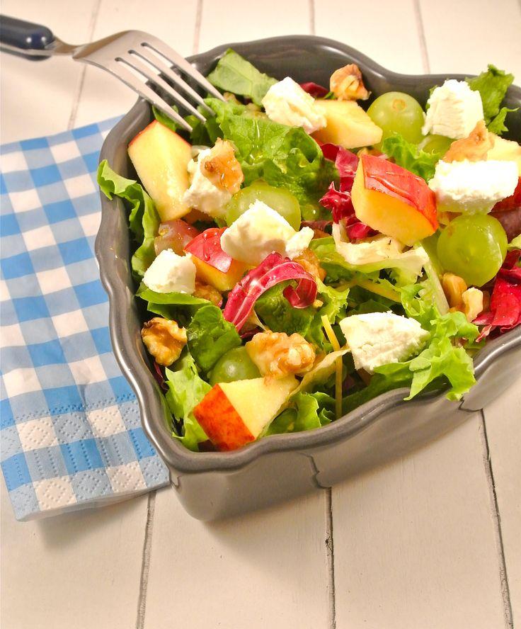Een lekker en gezond recept. Wij kunnen niet wachten tot het weer wat warmer wordt. Daarom hebben we alvast een lekker frisse salade met appel, walnoten, geitenkaas en honing. In de winter eten wij ook salades maar in de lente en zomer smaken ze toch net iets beter! Tijd: 20 min. Recept voor 2 personen...Lees Meer »