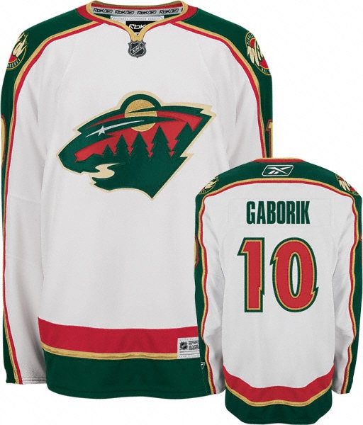 Grborik White jersey, Minnesota Wild #10 NHL jersey  ID:787208404  $35