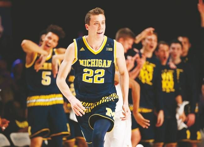 NCAA Basketball: From NH to the Big Ten -The University of Michigan men's basketball team won itself a ball game on Tuesday night.New Hampshire basketball fans likely paid no mind to the Wolverines' 66-59 win over North Carolina State, which aired live on ESPN2, or knew the two teams were even playing. Michigan guard Duncan Robinson, scored 17 points and 6-of-8 shooting off the bench tohelp boost the Wolverines (5-2) frontcourt after starting guard Derrick Walton left due to injury.