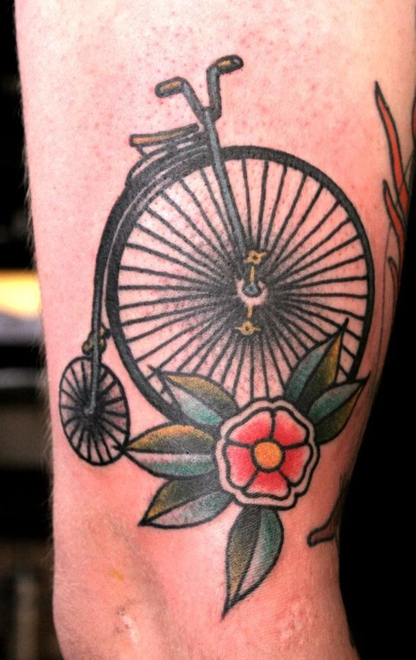 Image result for old school bicycle tattoo