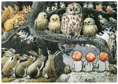 Elsa Beskow, Children of the Forest - I loved this book when I was growing up!