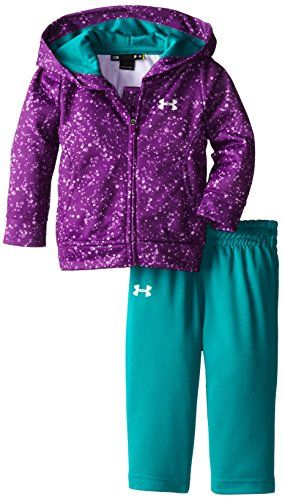 UNDER ARMOUR BABY-GIRLS INFANT HOODY PANT 2 SET, HENDRIX, 12 MONTHS  -Click image twice for more info - see a larger selection of baby girl clothing sets at http://zbabyproducts.com/product-category/baby-girl-clothing-sets/ - baby, infants, baby girl ,girls fashion, baby clothing , baby gift ideas, kids gift ideas, holidays, christmas2014