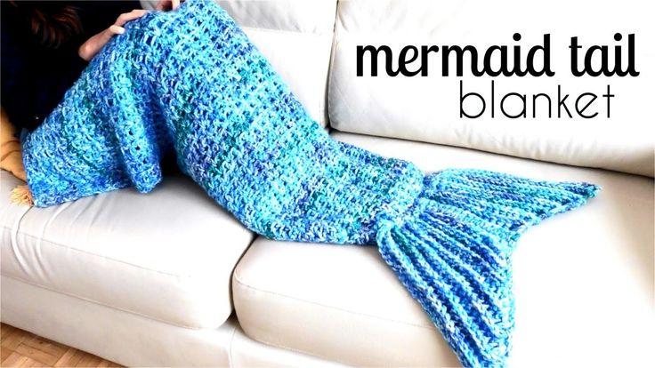 How to crochet MERMAID tail blanket   TUTORIAL DIY, easy pattern